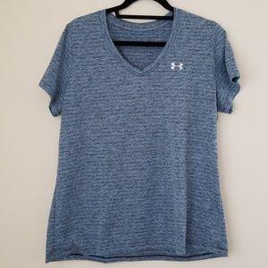 EUC Under Armour Women's V-neck Tech Shirt
